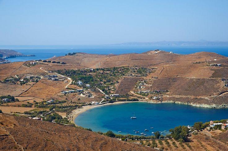 Pláž Otzias na ostrově Kea (Řecko)