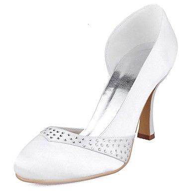 De satijnen vrouwen bruiloft naaldhak pumps met strass schoenen (meer kleuren) - EUR € 39.99