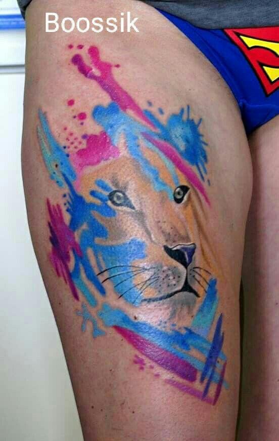 Watercolor lew