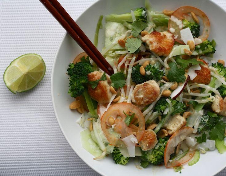Het recept van de dag is een bekend fenomeen en meestal saai. Maar ik heb een heerlijk recept van de dag bedacht: Pad Thai salade met kip.