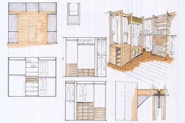 Finde  space Designs: Ankleidezimmer Handskizze. Entdecke die schönsten Bilder zur Inspiration für die Gestaltung deines Traumhauses.