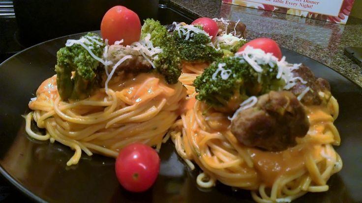 M.O.A.Ms Dinner MenuBirds Nest PastaAngel hair pasta mixed
