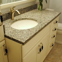 Traditional Bathroom Remodel With Maple Cream Cabinets And