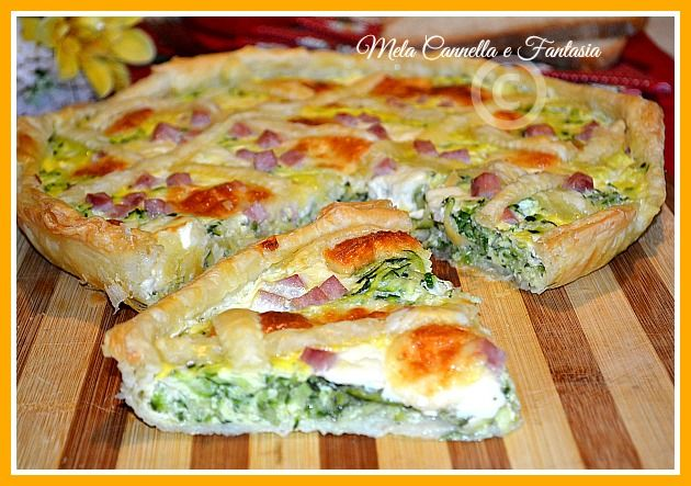 Quiche di zucchine con prosciutto cotto e formaggio