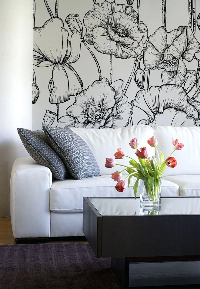 Flower Wall Painting Ideas Best Flower Mural Ideas On Murals Chalkboard Wall Art And Wall Painting Wall Decor Bedroom Wall Paint Designs Living Room Canvas Art