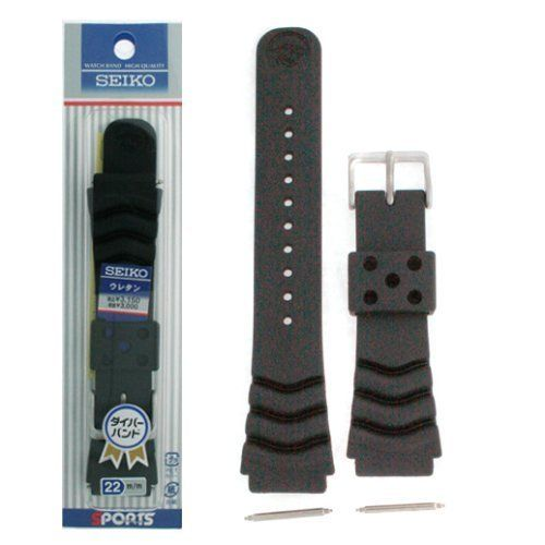 good Seiko First Rubber Curved Line Enjoy Band 22mm Divers Product and Authentic Seiko Spring Bars