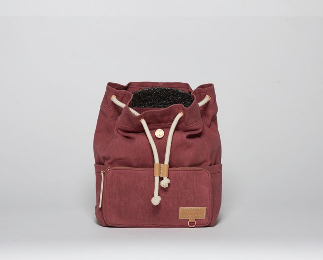Mini-Ransel | Marsala (waxed canvas) Kids backpack, scandinavian style.