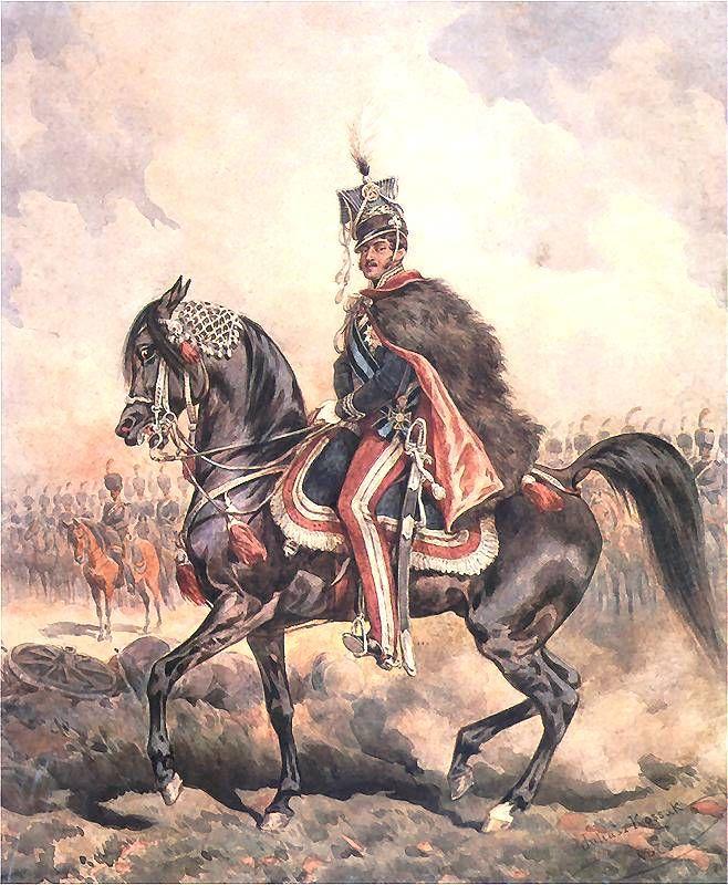 """Prince Jozef Poniatowski  on the mare """"Szumka""""by Juliusz Kossak"""