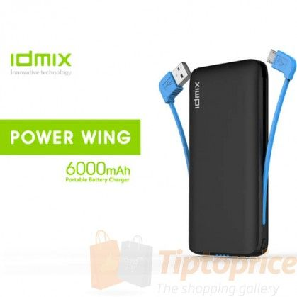 The Ultimate Shopping Gallery IDMIX DM-605A 5000mAh/6000mAh Power Wing (bank) dual usb output(2.1A+1A)+hidden Micro and usb cable