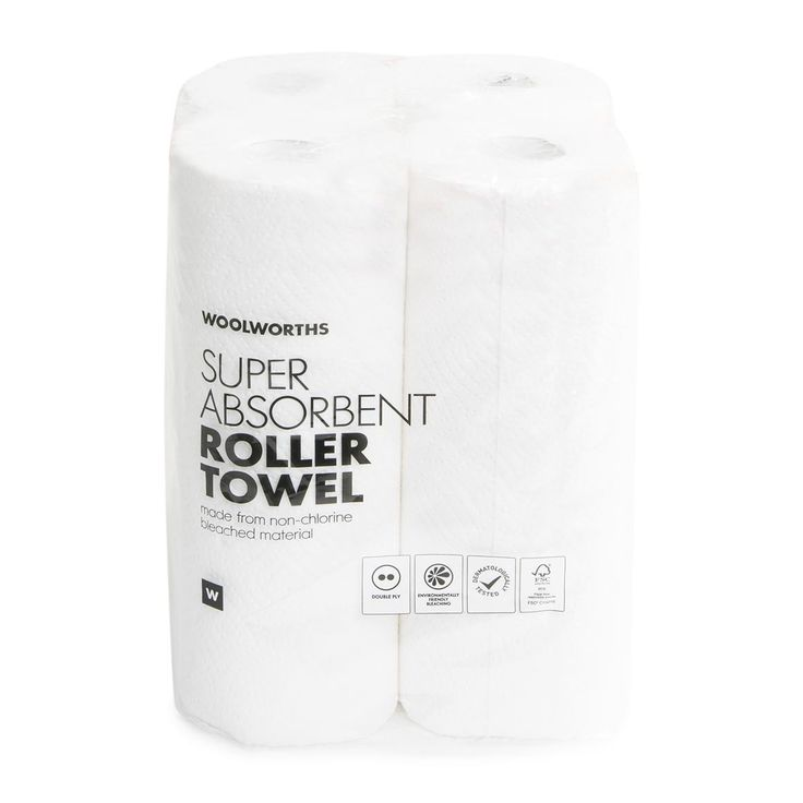 Bulk Double Ply Super Absorbent Roller Towel 4Pk