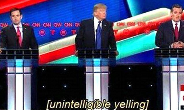 CNN subtitle writers can't keep up with the Republican debate as candidates hurl insults   Daily Mail Online