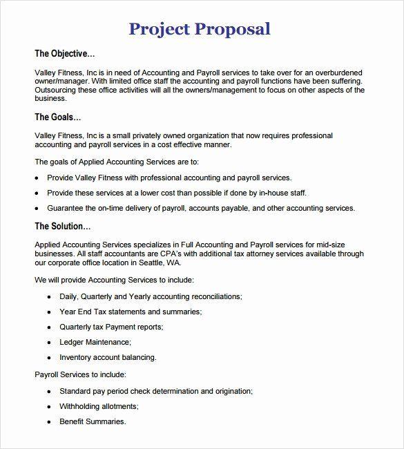 Project Proposal Template Pdf Inspirational Sample Proposal 22
