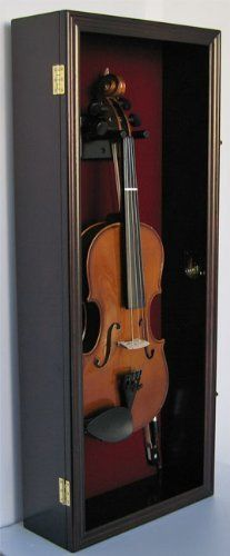 Fiddle, Violin Display Case Shadow Box with Hanger, with Lock (VD01-MA) DisplayGifts http://www.amazon.com/dp/B004E0F1RY/ref=cm_sw_r_pi_dp_XhIlvb1XWQX5E