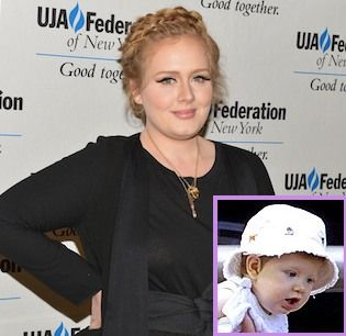 At long last, Adele's son Angelo has been photographed in all his cute glory.