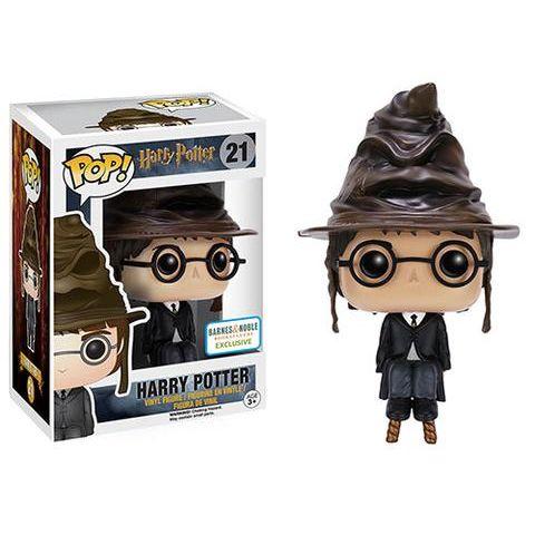 Funko Pop! Harry Potter con Varita Mágica Harry Potter llevando el Sombrero Seleccionador. ¿A que casa lo enviará esta vez?