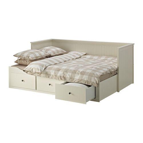 HEMNES Kanapé-ágykeret 3 fiókkal IKEA Kanapé, egyszemélyes ágy, dupla ágy és tároló egyetlen bútordarabban.