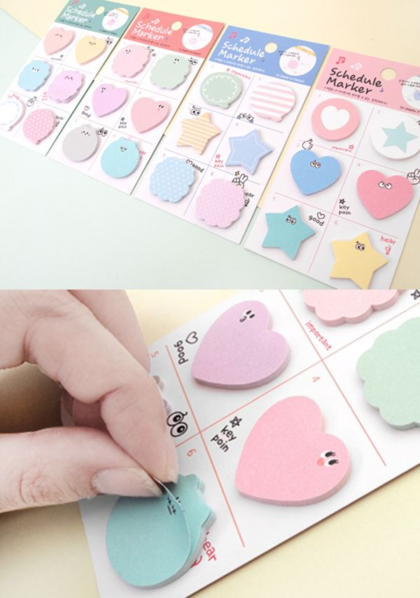 The included 6 unique sticky notes are sooo cute and adorable! By simply attaching these notes, it never fails to brighten up my planner, books and notebooks!