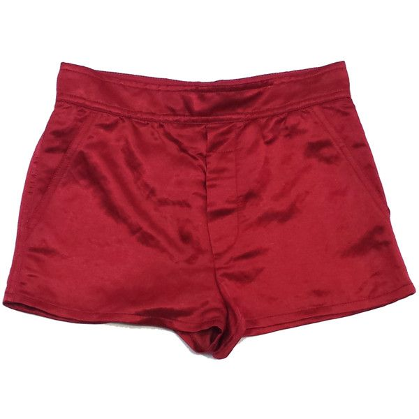 Pre-owned Marc Jacobs Red Satin Shorts (155 BAM) ❤ liked on Polyvore featuring shorts, marc jacobs, satin shorts, marc jacobs shorts and red shorts