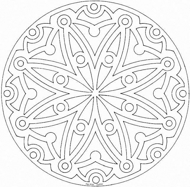 Detailed Coloring Pages For Adults   Mandala Printable Coloring Pages For Adults and Older Kids
