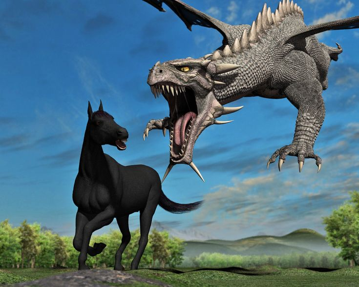 Dragon eating Horse in 3... 2... by PWRof3D on deviantART ...