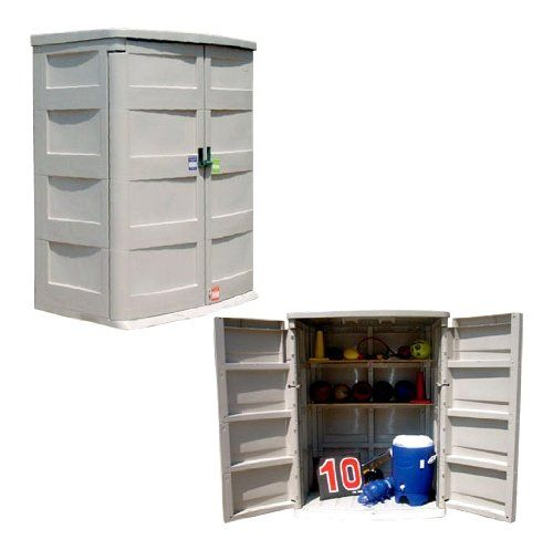 Awesome Outdoor Durable Plastic Storage Cabinet