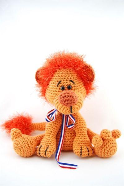Haakpatroon oranje leeuw   Echtstudio