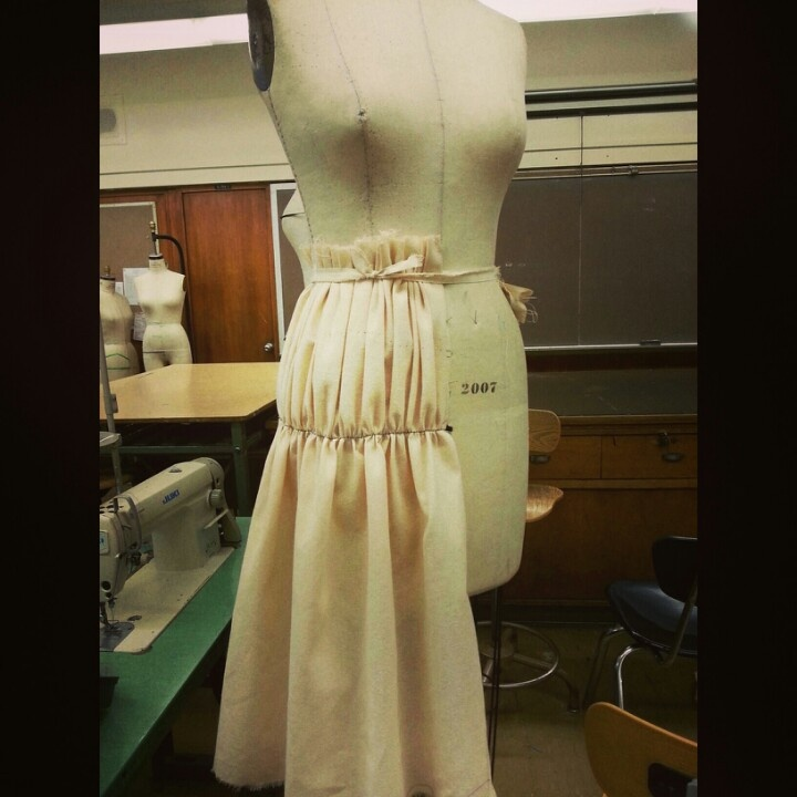 Draping my skirt #FIT