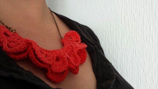 Crochet collar. Ovillo Tejedor
