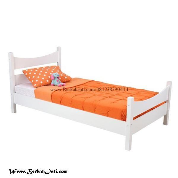Jual Tempat Tidur Anak Minimalis Simple Murah Merupakan Produk mebel Furniture Tempat tidur Anak dengan desain Simple Minimalis Cat Putih Duco Solid Cantik