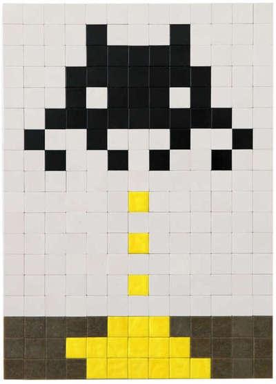 Invader  BXL_05, 2012  70,7 x 43,2, Alias / mosaique sur perspex, carte d'identité, photo. /50 pts