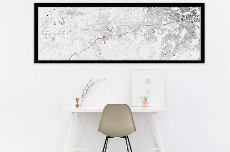 Je kunt nu je eigen fietsroute als kunstwerk inlijsten en ophangen - Roomed
