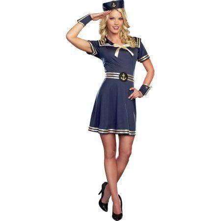 Sailor Women's Halloween Costume, M (8-10) #Sailor Halloween Costumes