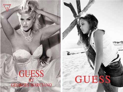 DannieLynn just like mommy Anna Nicole Smith covermodel for Guess