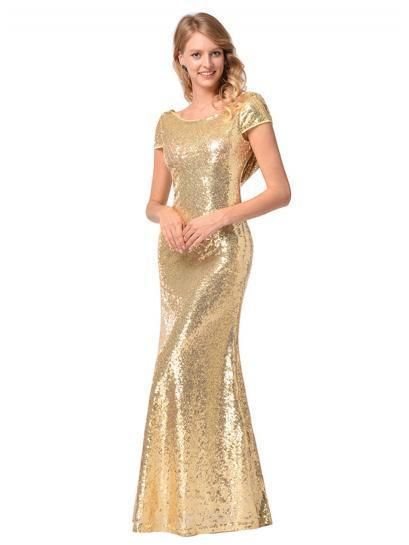 1a63f1e6 Sequin Maxi Fishtail Dress Evening Dress | Oshoplive #Evening Dress ...
