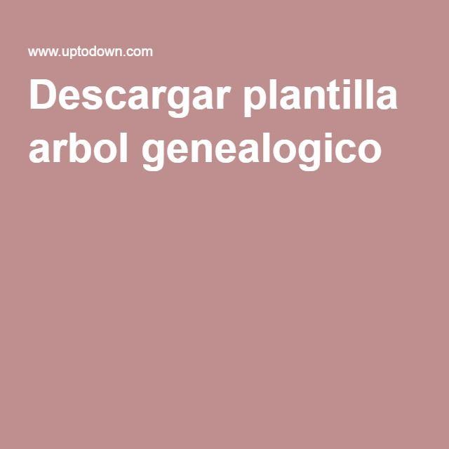 Descargar plantilla arbol genealogico