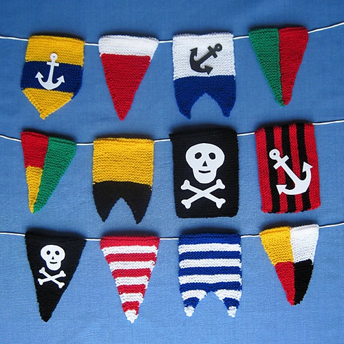 Ravelry: Pirate Pennant Bunting Flags pattern by Elizabeth Phillips