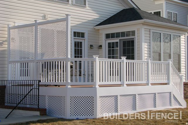 Low Maintenance Trex 174 Deck With A Lattice Skirt To Hide