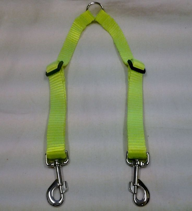 COUPLER - ADJUSTABLE - 25MM HEAVY WEBBING - SUPER STRONG - FLURO YELLOW