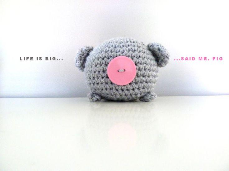 Crochet pig Mr. Big :-)