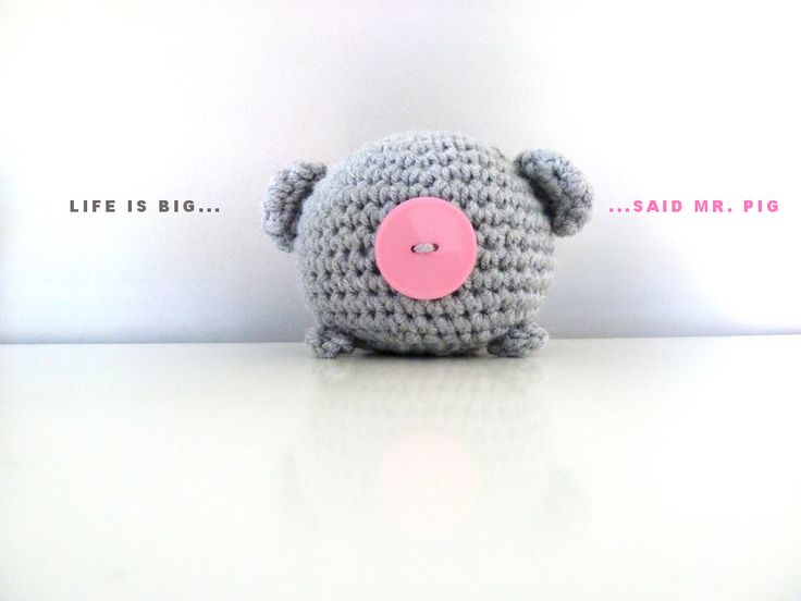 Crochet pig Mr. Big :-)