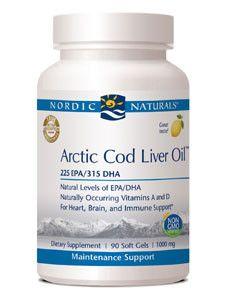 Nordic Naturals- Arctic Cod Liver Oil 1000 mg 90 gels
