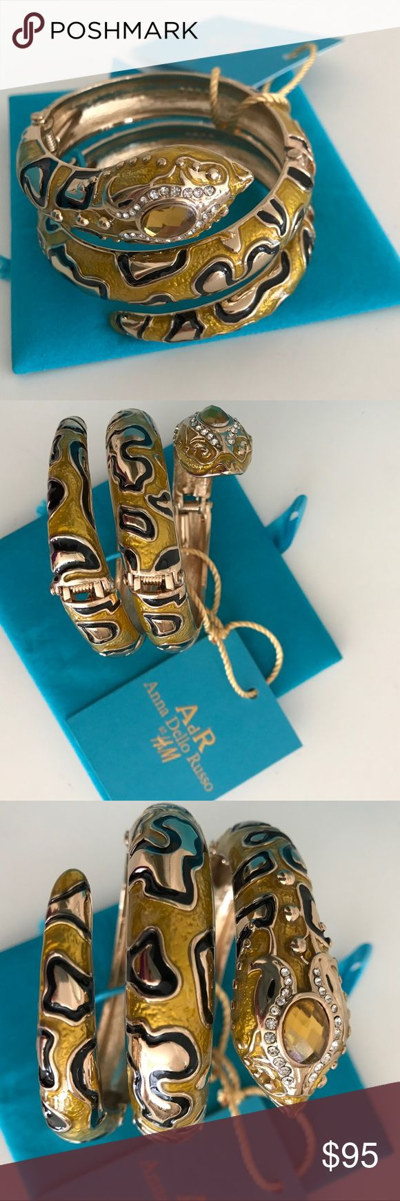 Anna Dello Russo Snake Bracelet Anna Dello Russo Snake Bracelet. Part of the limited edition collection for H&M. Rare!!! I camped out in the wee hours of the morning to snag part of this line. Brand New in Pretty Collector's Box. Anna Dello Russo Jewelry Bracelets