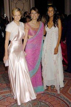 Carolyn Murphy With fellow Estee Lauder spokesmodels Elizabeth Hurley and Liya Kebede in 2005