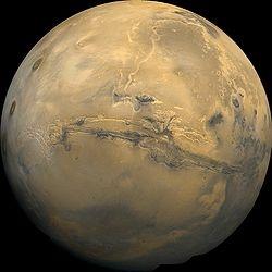 Mars. As seen by the Viking 1 orbiter.