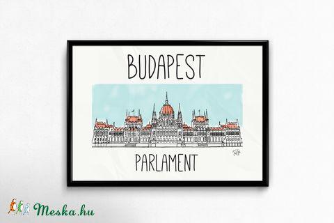 Lakásdekoráció kép, kerettel, ingyenes szállítással: Budapest Parlament (hintapalinta) - Meska.hu