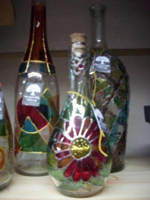 75 best images about botellas decoradas on pinterest decorate bottles fireplaces and artesanato - Botellas decoradas navidenas ...