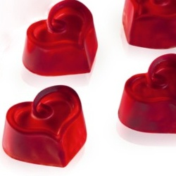 Polycarbonate Chocolate Mold Heart, 30 Cavities