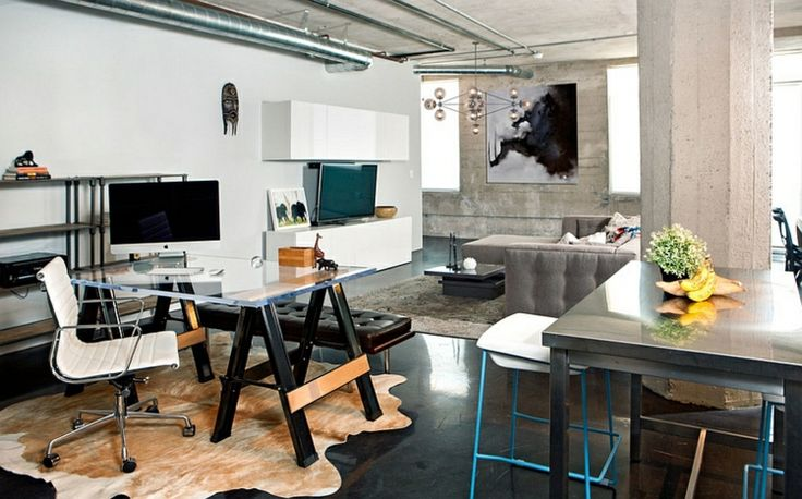 Modernes Kabinett im Industrie-Stil einrichten