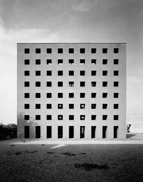 Gabriele Basilico's beautiful capture of Aldo Rossi's San Cataldo Cemetery, Modena 1972-1984. Via.