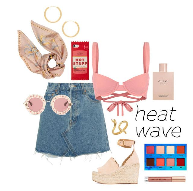 """""""Summer lovin'"""" by angelamarkovich on Polyvore featuring Elizabeth and James, Gucci, Kate Spade, RE/DONE, Roberto Cavalli, Chloé, Madina Visconti di Modrone, Lime Crime and Kevyn Aucoin"""